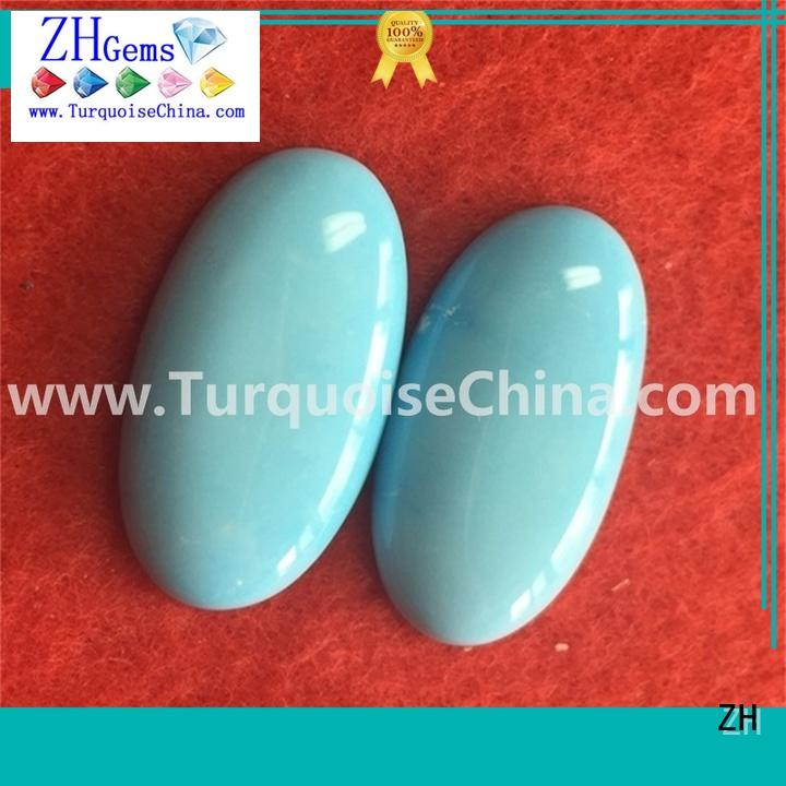 ZH excellent turquoise cabochon professional supplier for ring
