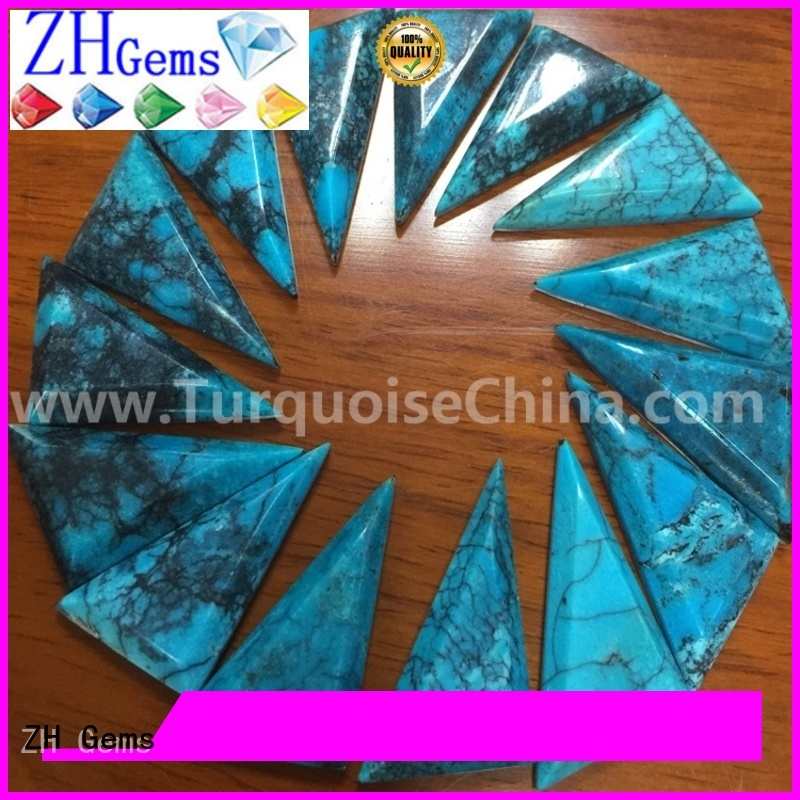 ZH Gems beautiful triangle cabochon supplier for jewellery making