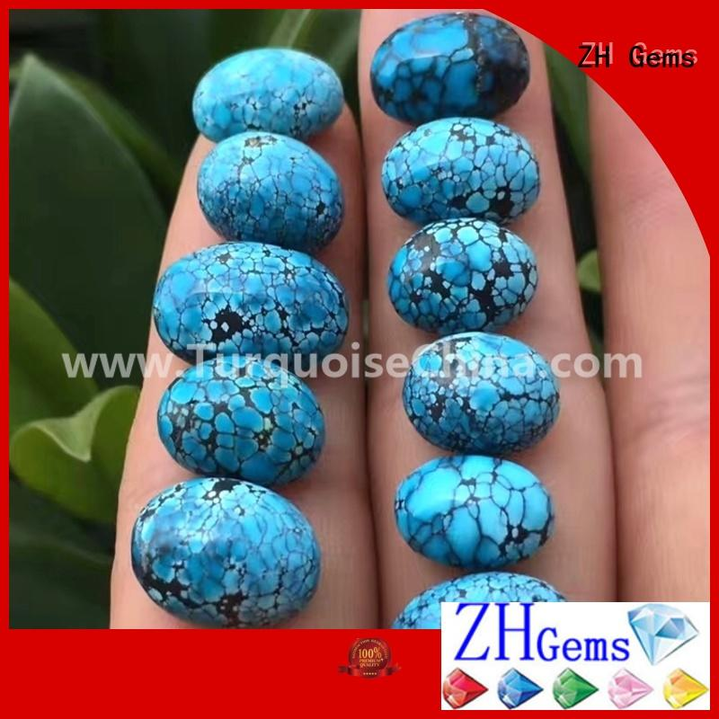 ZH Gems natural turquoise cabochon supplier for necklace