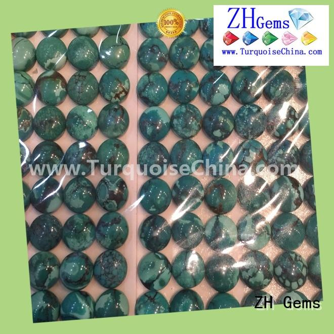 ZH Gems good quality natural turquoise cabochon supplier for necklace