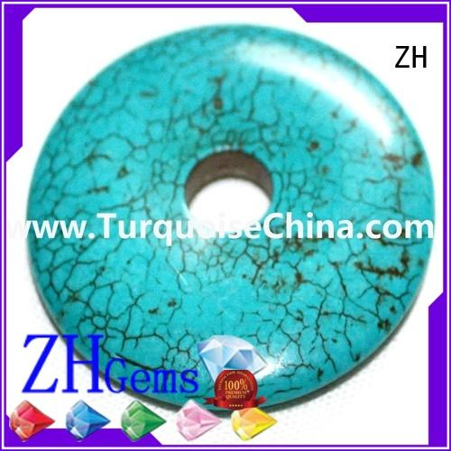 ZH top quality turquoise donut beads supply for ring
