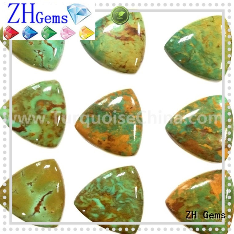 ZH Gems top quality loose turquoise cabochon professional supplier for necklace