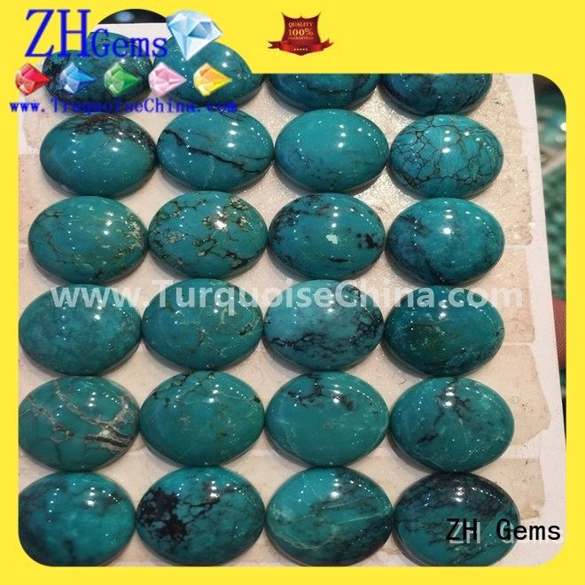 beautiful turquoise oval beads supply for bracelet