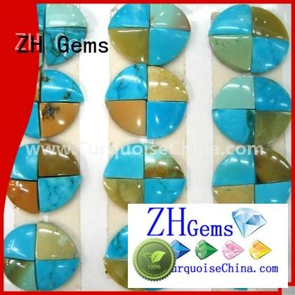 ZH Gems top quality turquoise oval beads professional supplier for ring