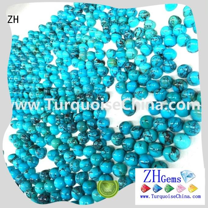 ZH natural turquoise beads supply for jewelry
