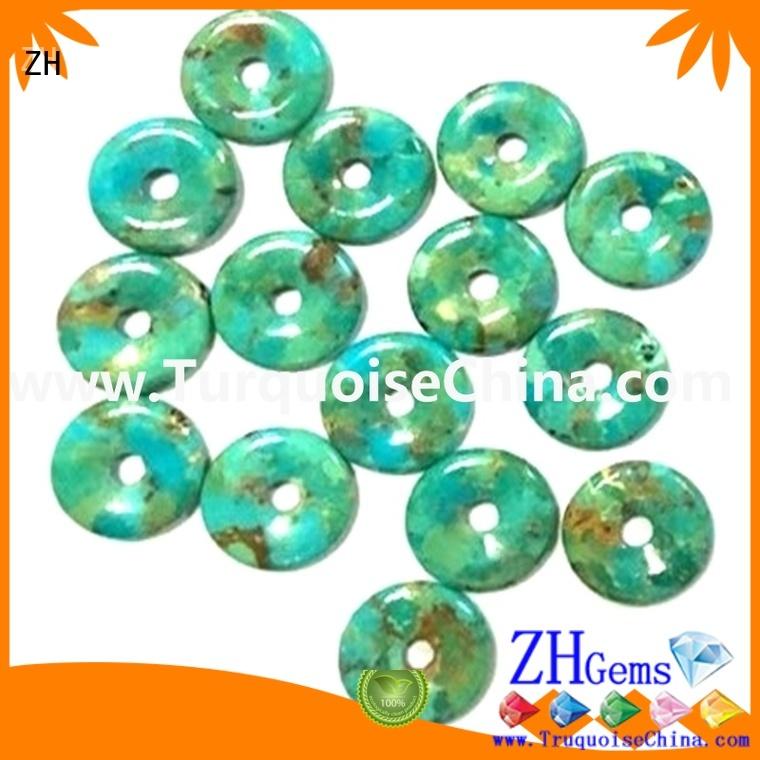 ZH donut turquoise supply for bracelet