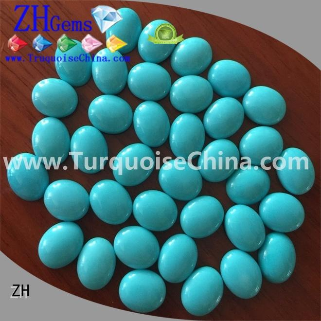 ZH great natural turquoise cabochon supplier for jewellery making