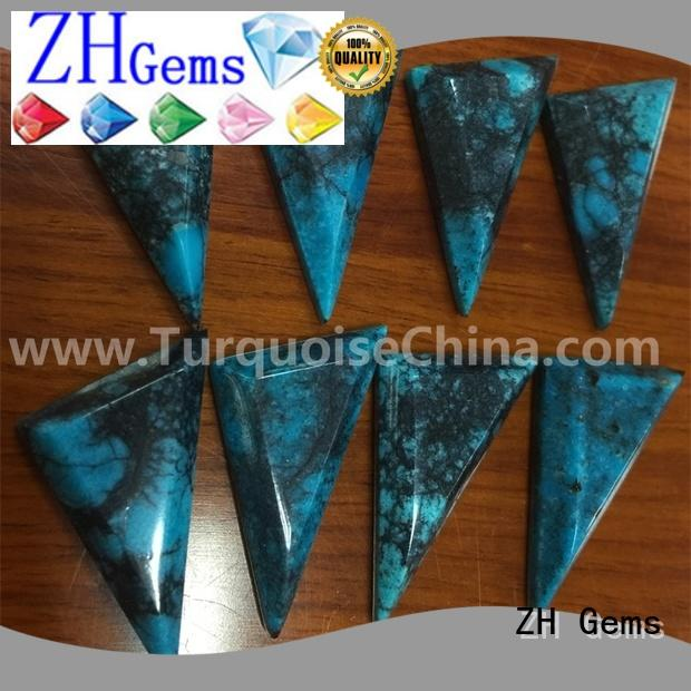 ZH Gems good quality cabochon triangle business for jewelry making