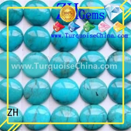 ZH best loose turquoise cabochon professional supplier for jewellery making