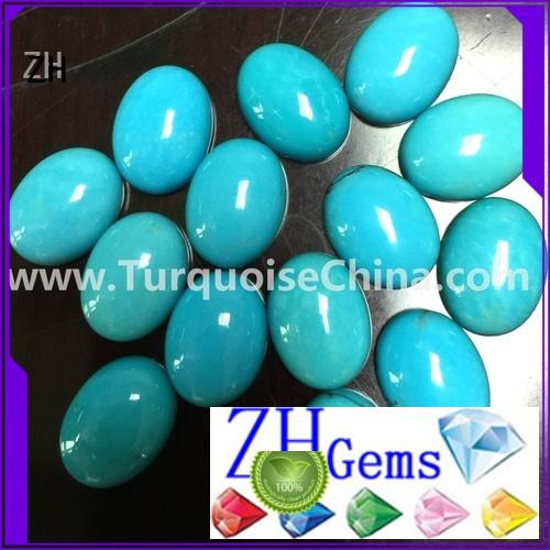 ZH great natural turquoise cabochon business for jewelry making