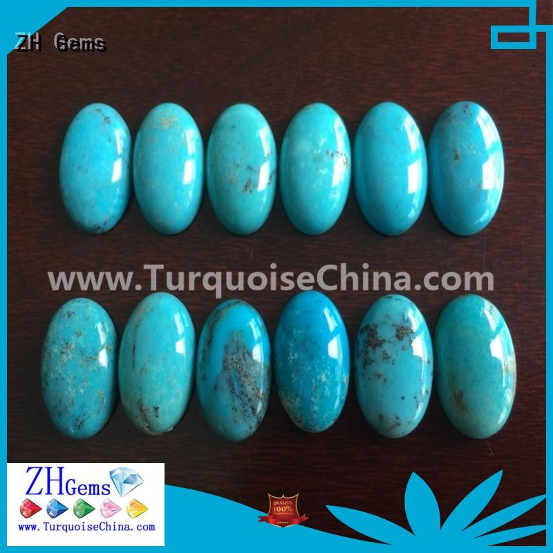 ZH Gems good quality genuine turquoise cabochon reliable supplier for ring