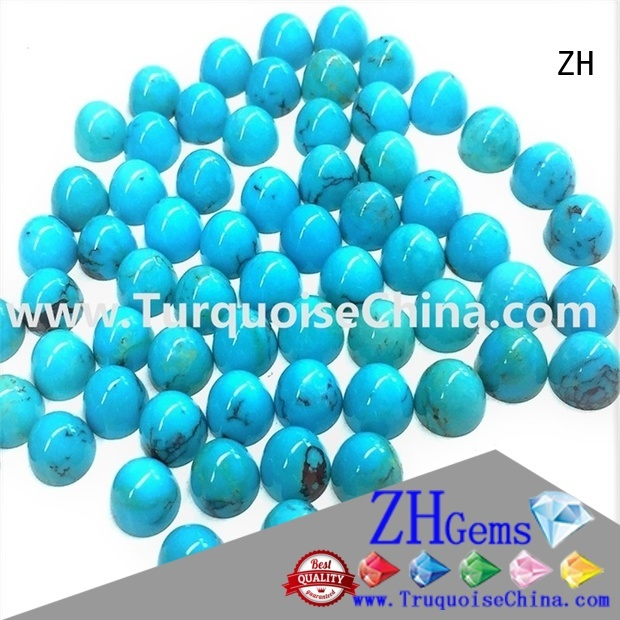 ZH excellent turquoise gemstone professional supplier for jewellery making