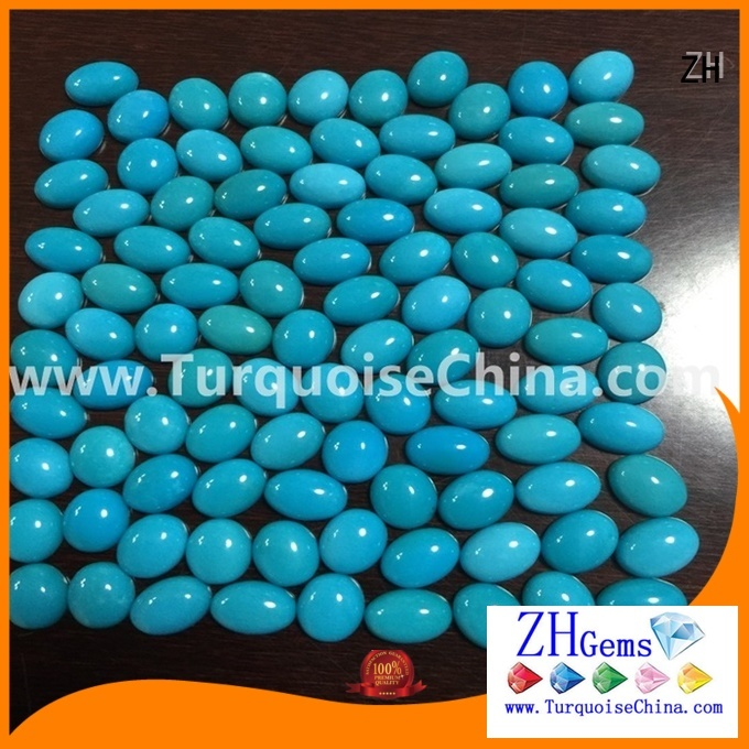 ZH top rated natural sleeping beauty turquoise cabochons professional supplier for bracelet