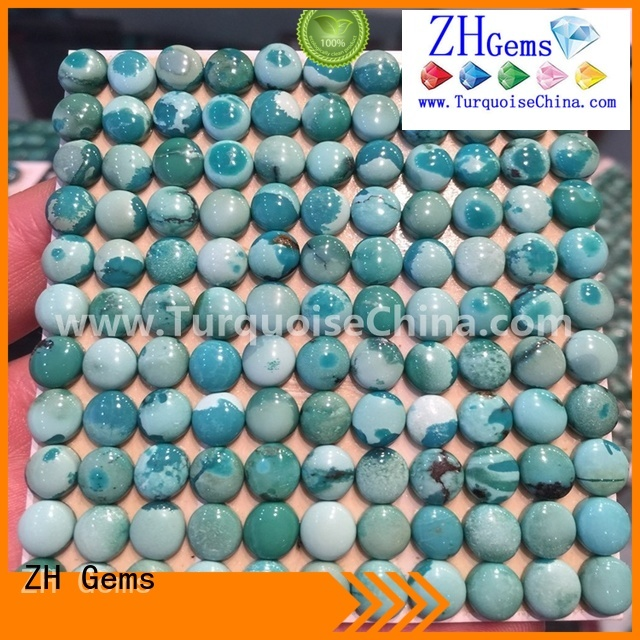 ZH Gems turquoise oval beads supplier for necklace