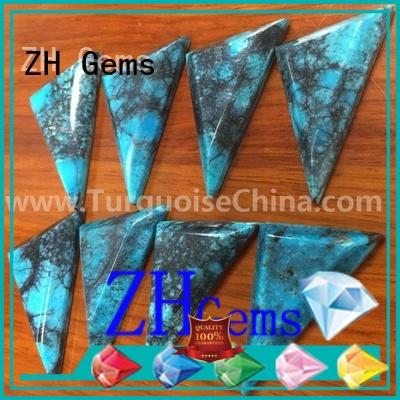 ZH Gems top quality turquoise cabochon stones supply for jewelry making