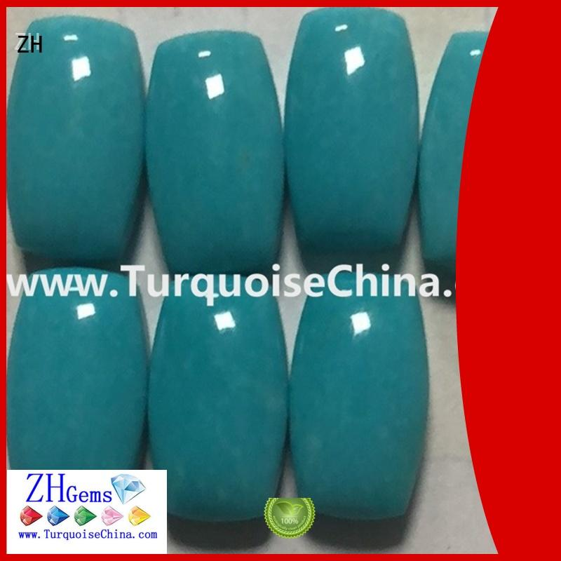 ZH top rated natural turquoise cabochon supplier for necklace