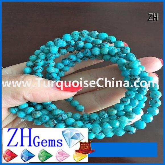 ZH faceted turquoise supply for jewelry making