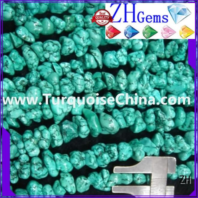 ZH beautiful turquoise stone chips supplier for jewelry