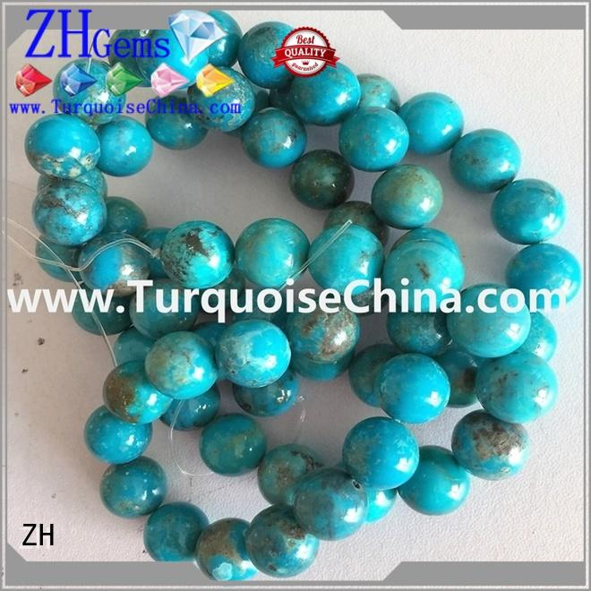 ZH round gemstone beads supplier