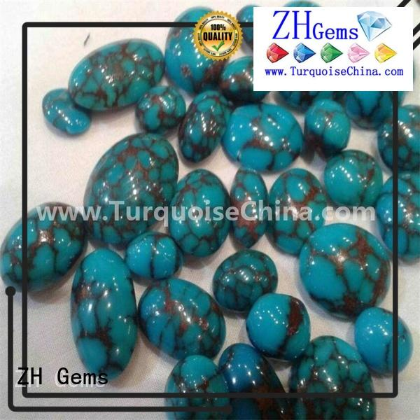 ZH Gems genuine turquoise cabochon professional supplier for jewelry