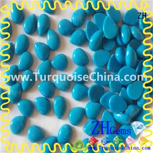 ZH sleeping beauty turquoise cabochon supply for jewelry