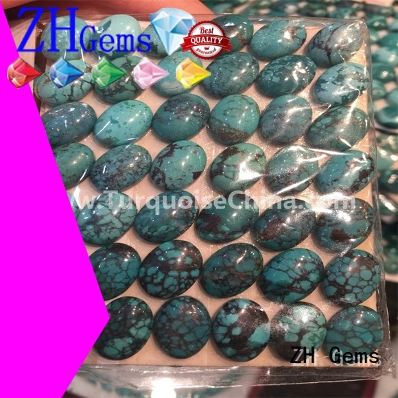 best oval turquoise stone supplier for necklace