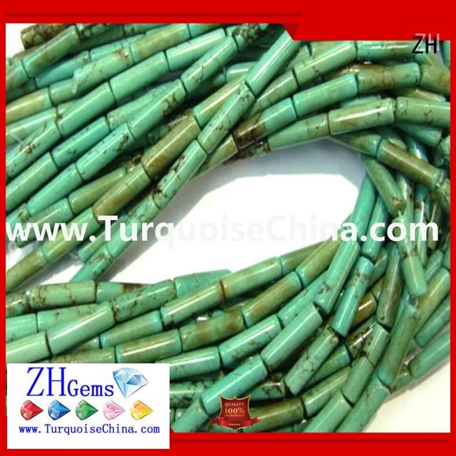 ZH loose turquoise beads business for bracelet