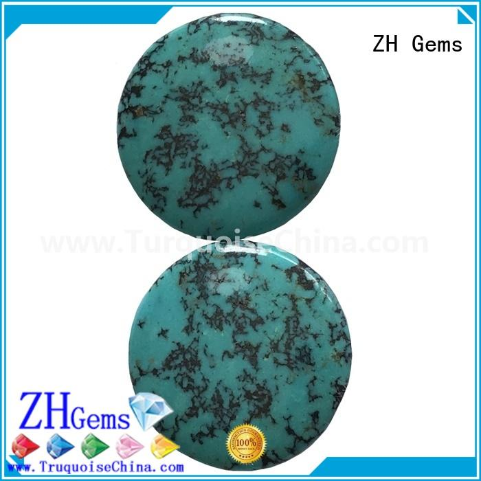 ZH Gems loose turquoise cabochon business for jewelry