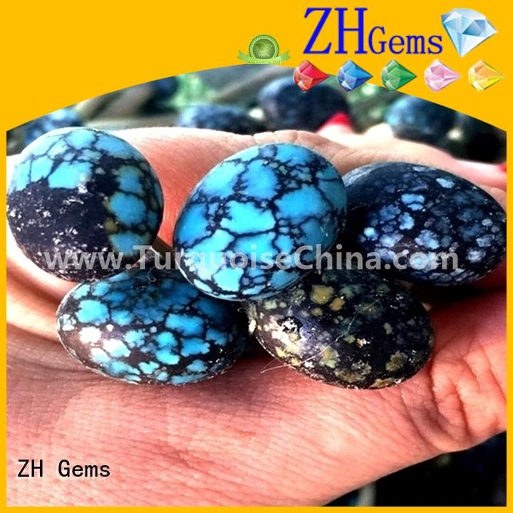 ZH Gems turquoise stones in bulk business for jewellery making
