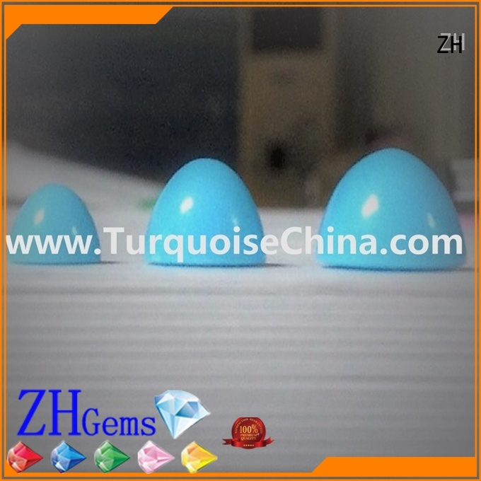 ZH authentic turquoise beads business for earings