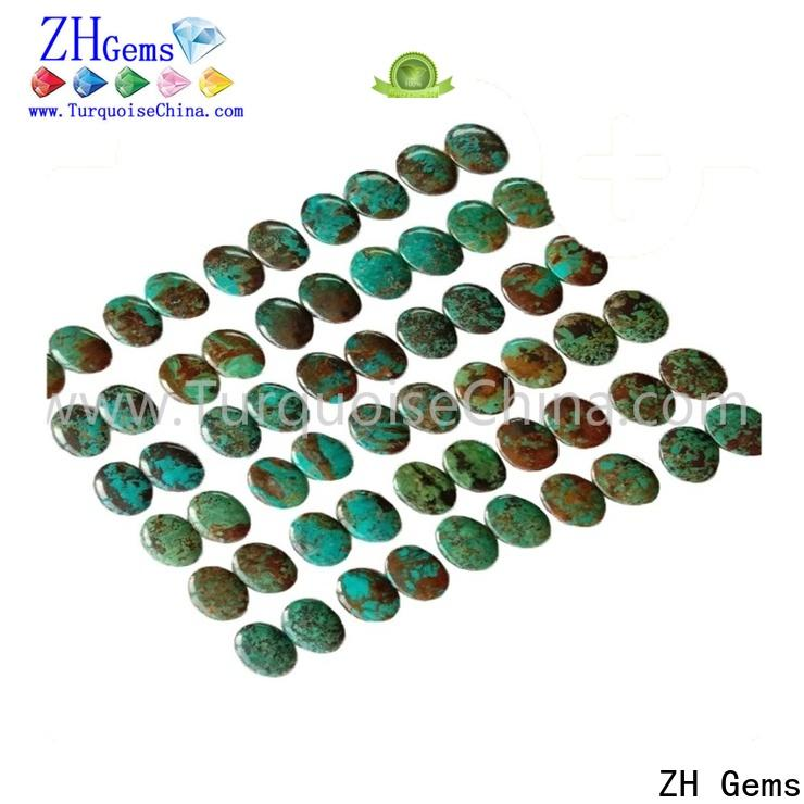 ZH Gems top quality images of turquoise green business for ring
