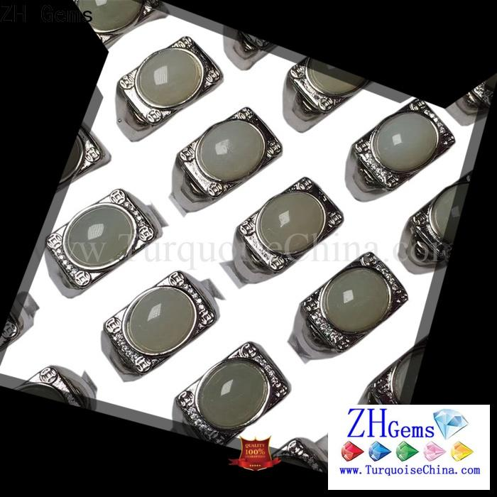 ZH Gems top rated real turquoise rings reliable supplier for jewelry supplier