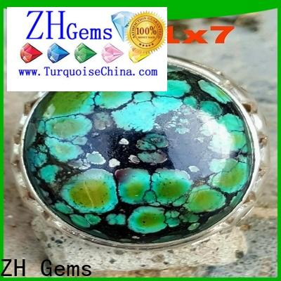 ZH Gems perfect real turquoise rings reliable supplier for jewelry industry