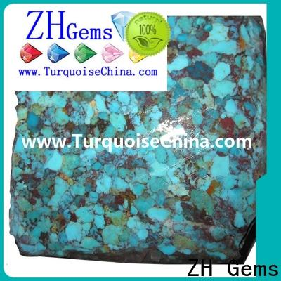 ZH Gems perfect rough turquoise reliable supplier for jewellery making