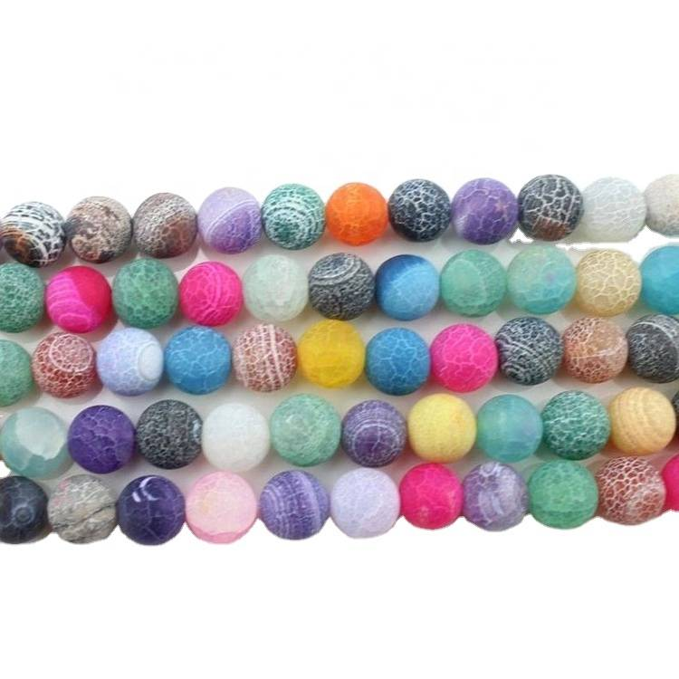 Full Strand Genuine Natural High Grade Agate Stone Round Healing Smooth Gemstone Loose Beads 8mm