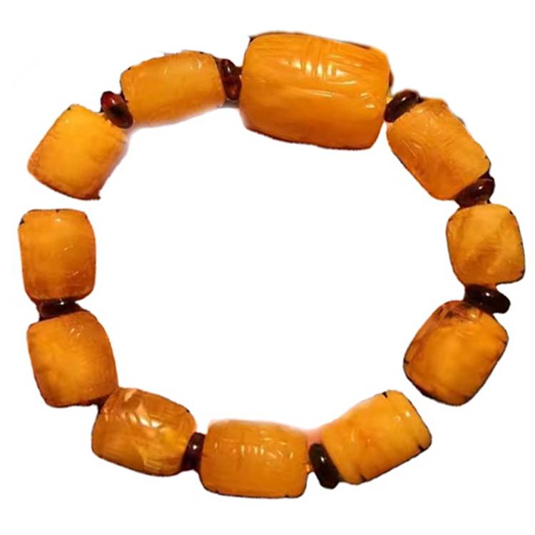 19x23 to 10x15 drum beads Amber gemstone bracelet jewelry Unisex jewellery