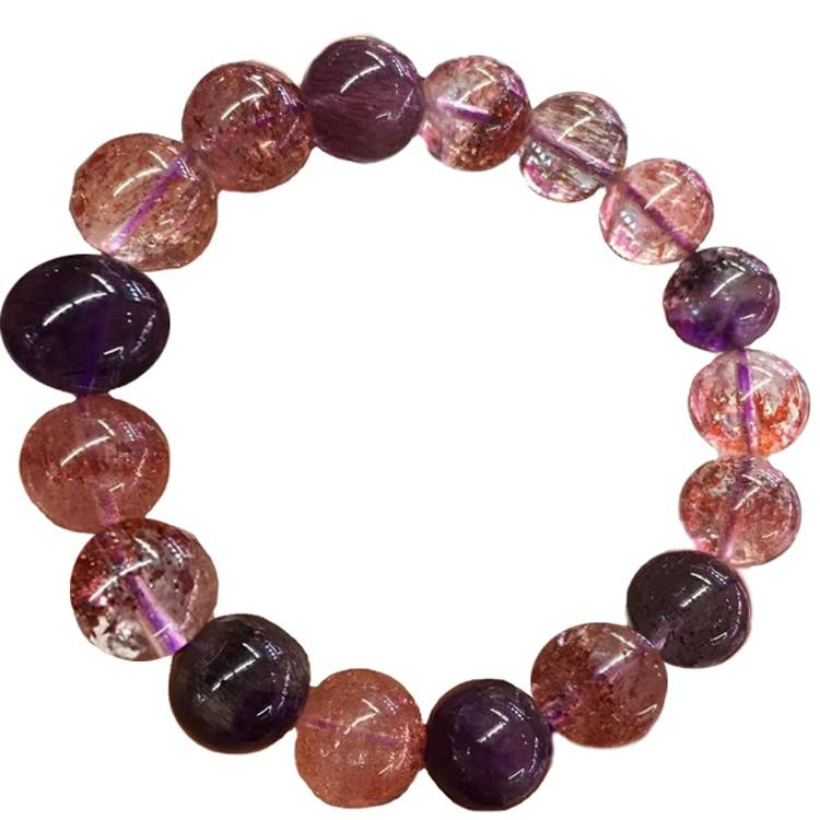 Red/purple/black color mixture round beads 7SUPPER SEVEN bracelet jewellery