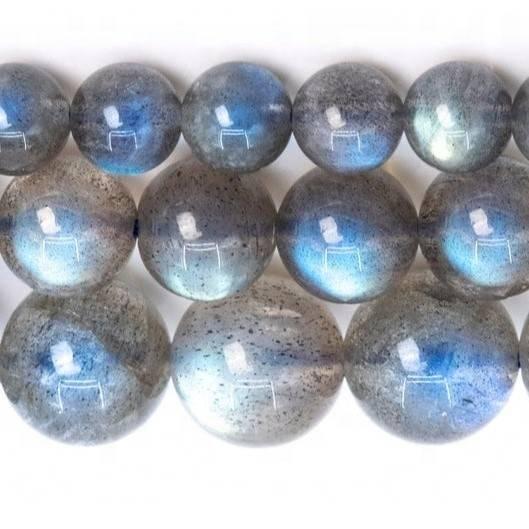 Natural Labradorite Polished Smooth Round Beads Natural Gemstone Round Loose Beads