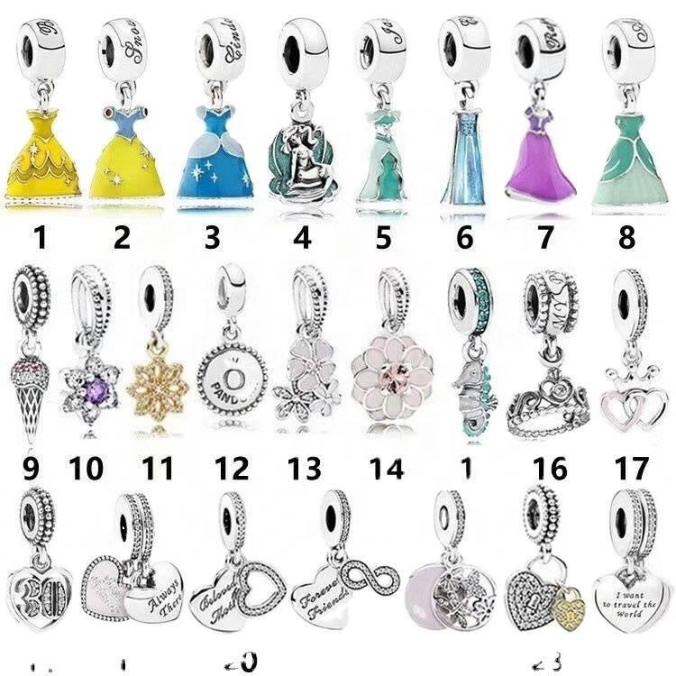 Hot 1pcs Charms Beads Fit for silver Necklace Bracelet Pendant Chain