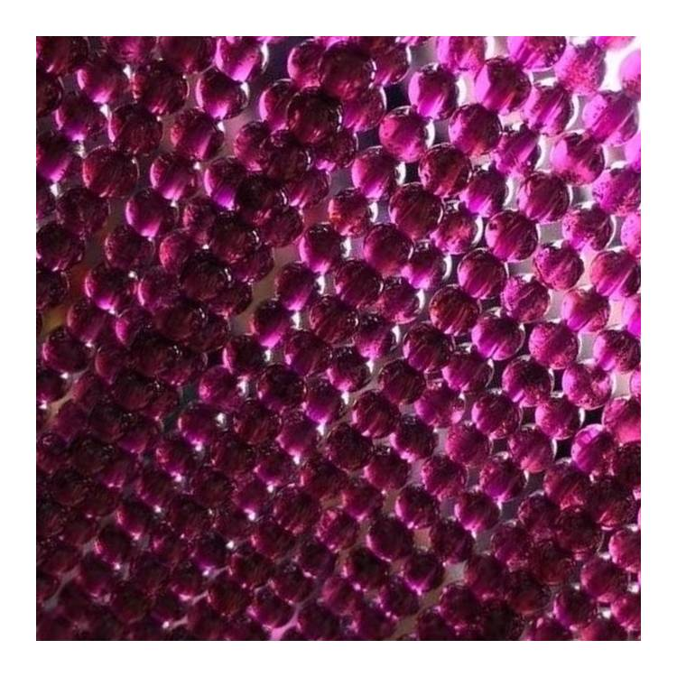 Natural Red Garnet Beads Faceted Round Shape for Bracelets Necklace Diy Jewelry Making Gemstone Spacer Beads