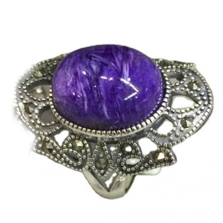 Charoite Silver Pendant sets Jewelry Price Per Gram 925 Sterling Silver Jewelry Wholesale
