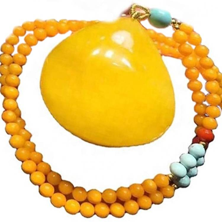 Hot sale woman jewelry beads amber necklace