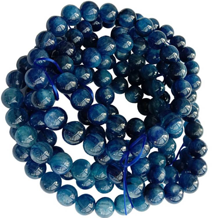 Wholesale Kyanite Bracelet 8mm Blue High Grade Kyanite Beaded Natural Gemstone Bracelet
