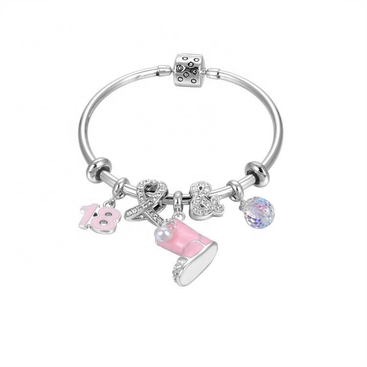 cute type women 925 silver bracelet