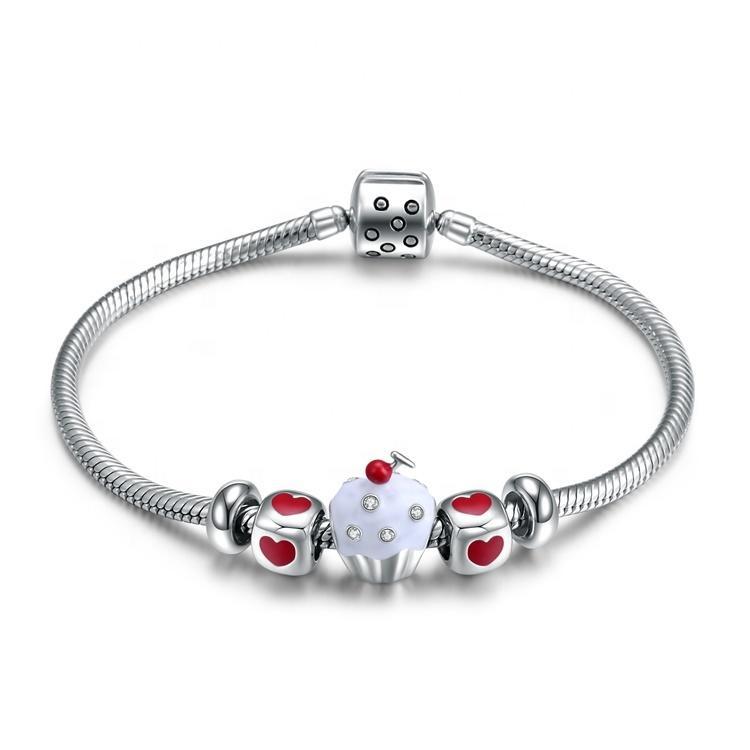 lovely style famous brand 925 silver bracelet