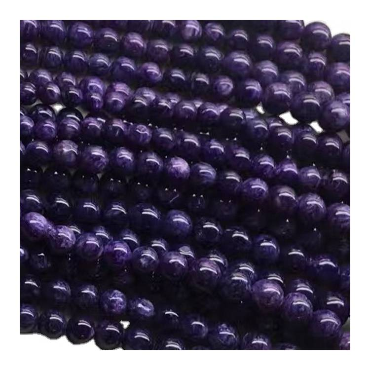 wholesale natural stone Charoite 5A grade quality gemstone beads for jewelry making