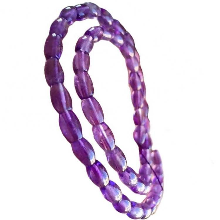 deep purple color Amethyst gemstone 16 inch per one strings
