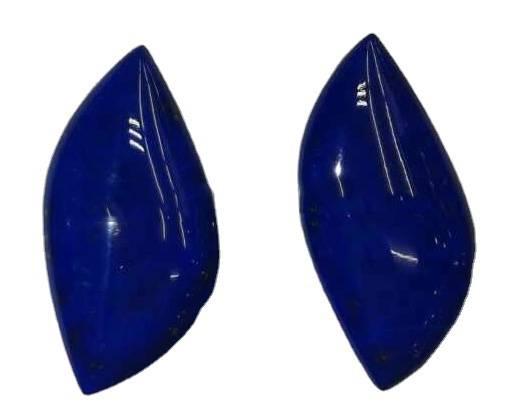 Natural Blue Lapis Lazuli Cabochon Smooth Lapis Flat Back Side Hand Polished Calibrated