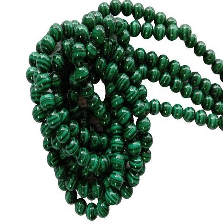 String  Green Malachite 8mm Round Gemstone Beads  1strand  make Wholesale
