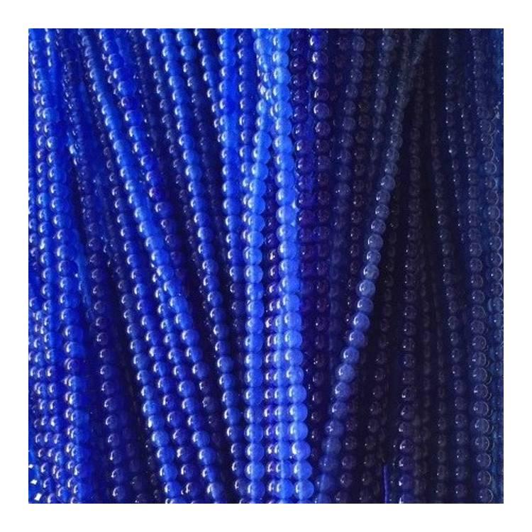 Strand of Blue Mashan Jade 6mm Plain Round Gemstone Loose Beads